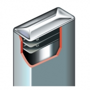 Chrome-Plated Cap Rectangular Inserts